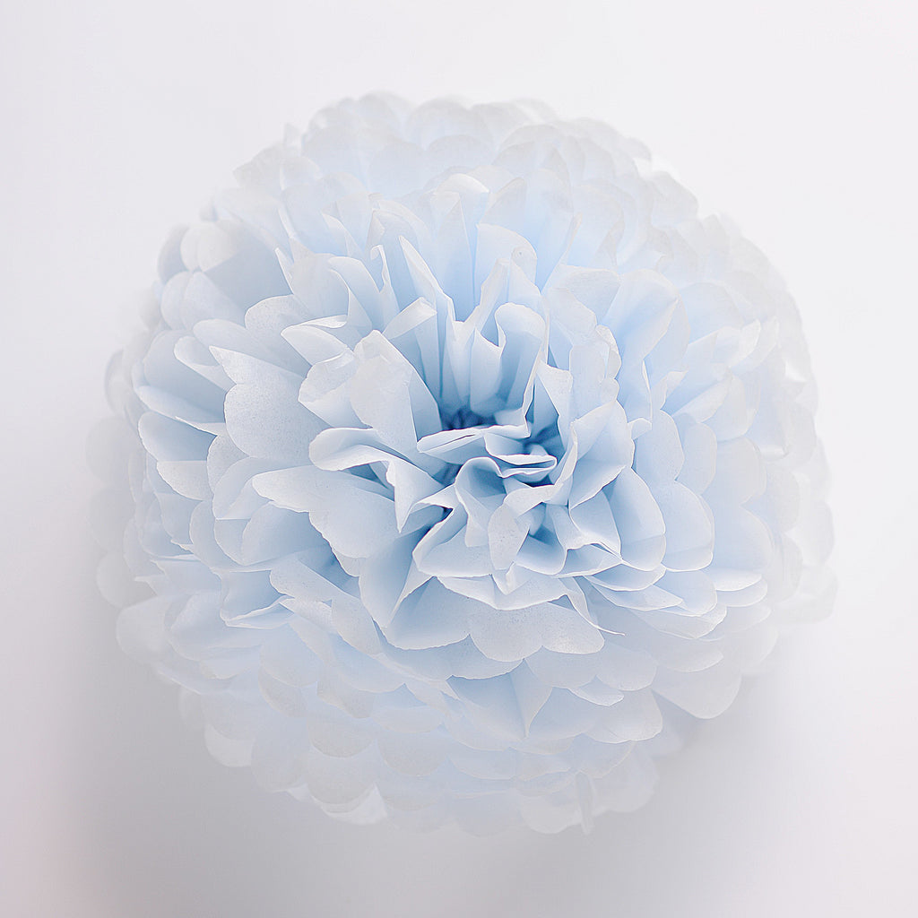 Breeze blue tissue paper pom pom