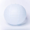 12 Inch pale blue round paper Lantern with LED light / no led light