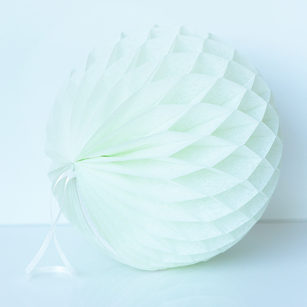 Pale mint paper honeycomb - hanging party decorations