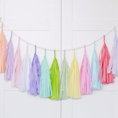 Pastel Unicorn tassel garland - various lengths