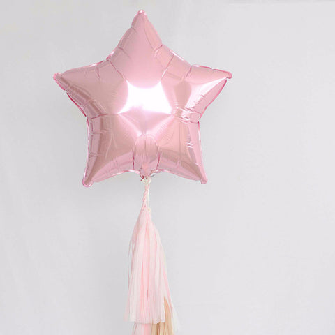 Light pink Star Foil Balloon 18