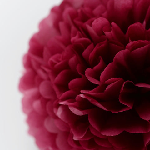 Burgundy tissue paper pom pom - Decopompoms - party decoration boutique