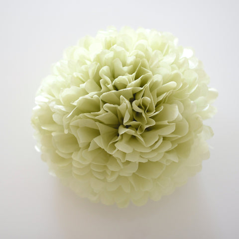 Celery tissue paper pom pom - Decopompoms - party decoration boutique