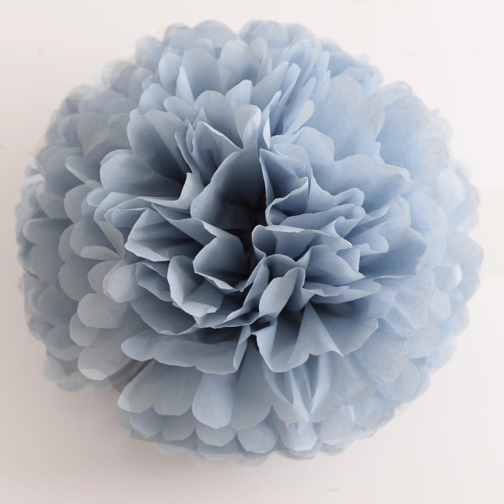 Dusty blue / antique blue tissue paper pom pom - Decopompoms - party decoration boutique