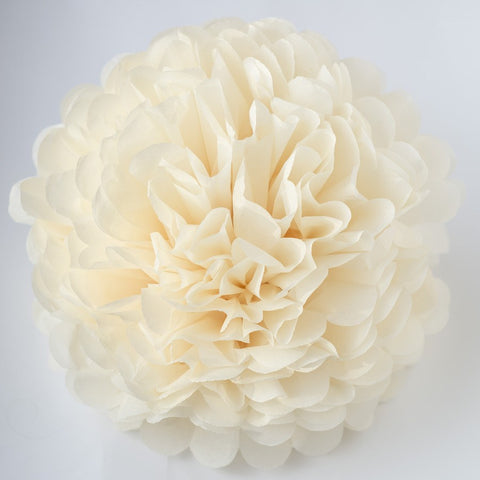 French vanilla tssue paper pom pom - Decopompoms - party decoration boutique