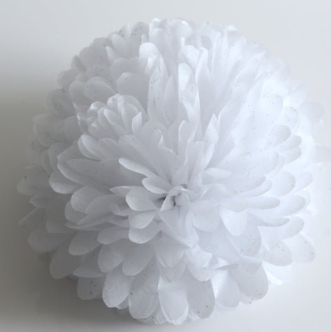 Pom - Gemstone Diamonds White Tissue Paper Pom Pom
