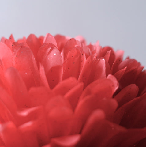 Gemstone Ruby red tissue paper pom pom - Decopompoms - party decoration boutique