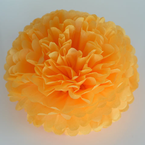 Golden rod tissue paper pompom - Decopompoms - party decoration boutique