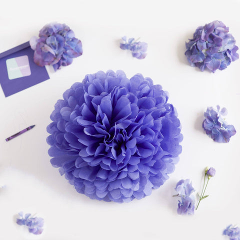 Iris tissue paper pom pom - Decopompoms - party decoration boutique