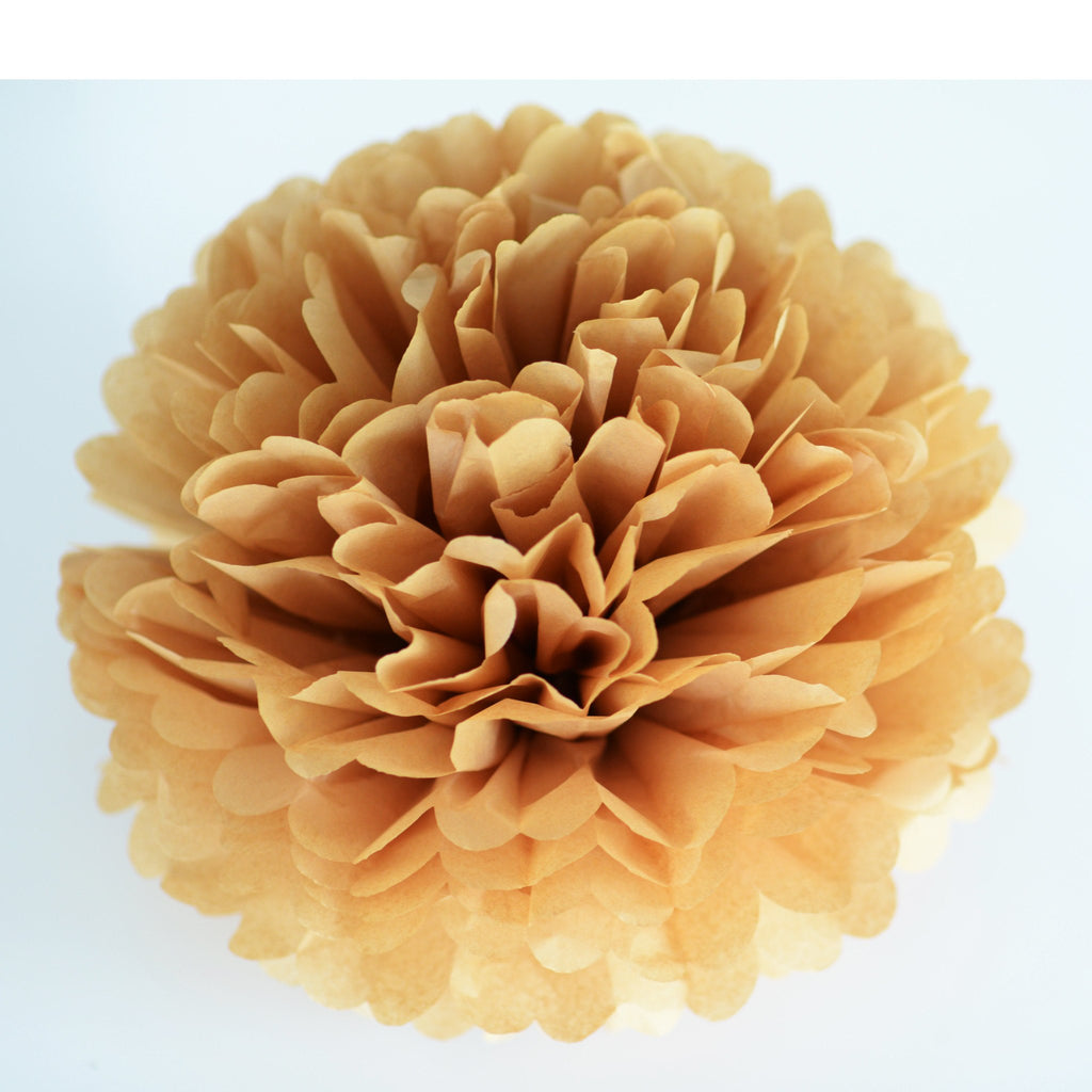 Kraft tissue paper pom pom - Decopompoms - party decoration boutique