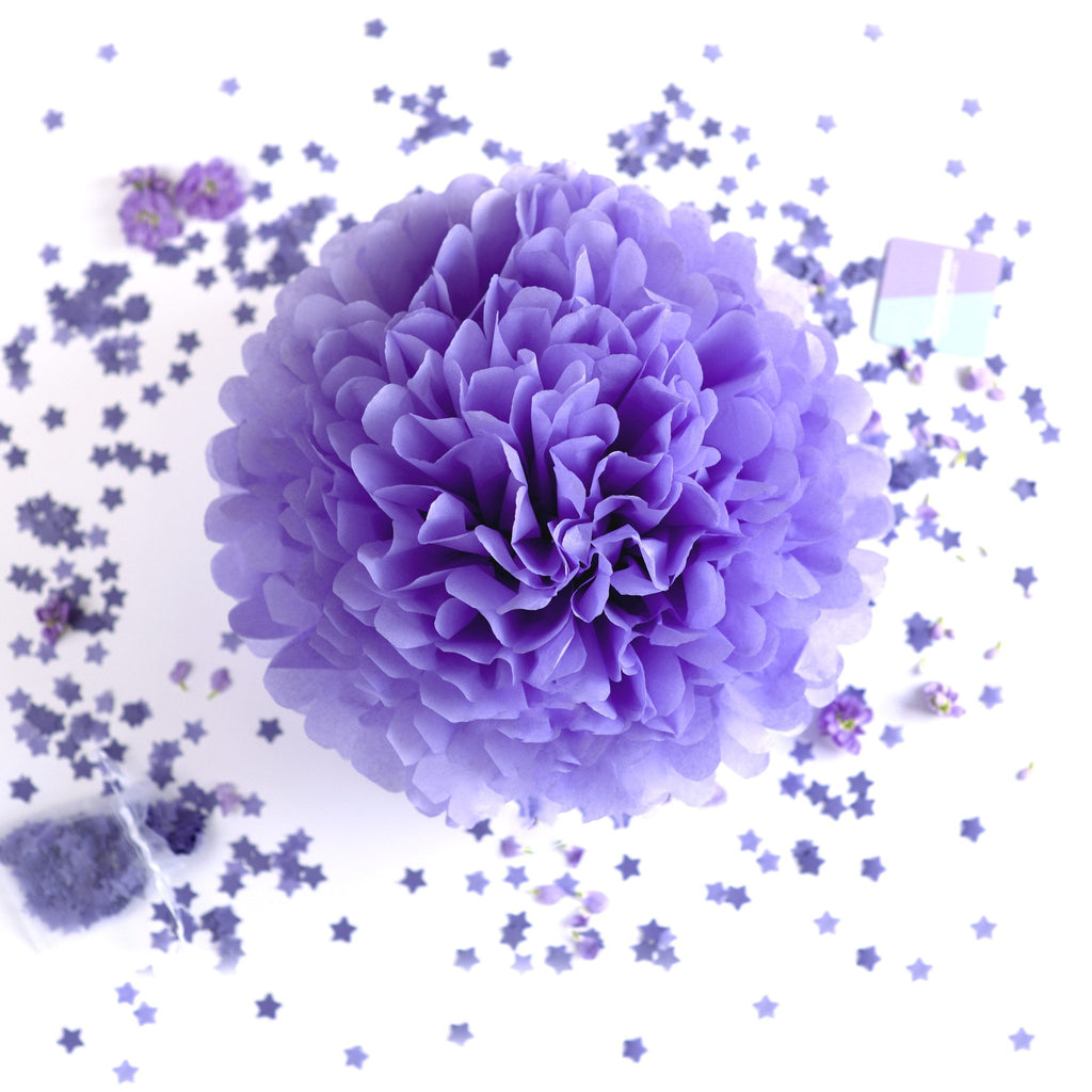 Lavender tissue paper pom pom - Decopompoms - party decoration boutique