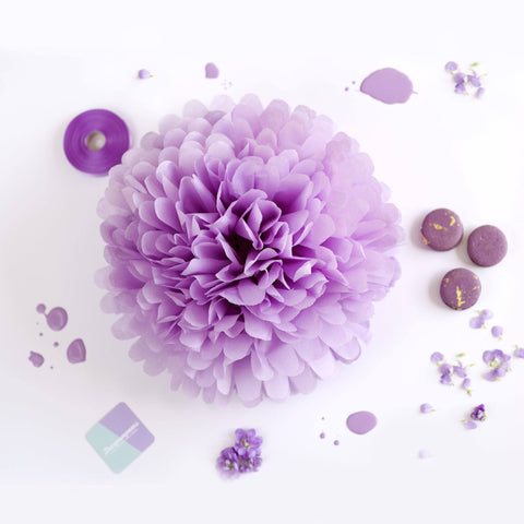 Lilac tissue paper pom pom - Decopompoms - party decoration boutique