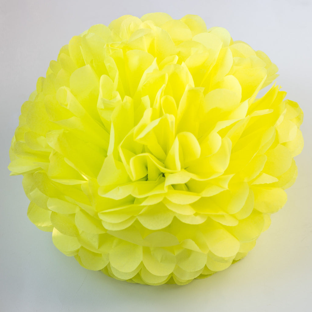 Limon tissue paper pom poms - neon bright - Decopompoms - party decoration boutique