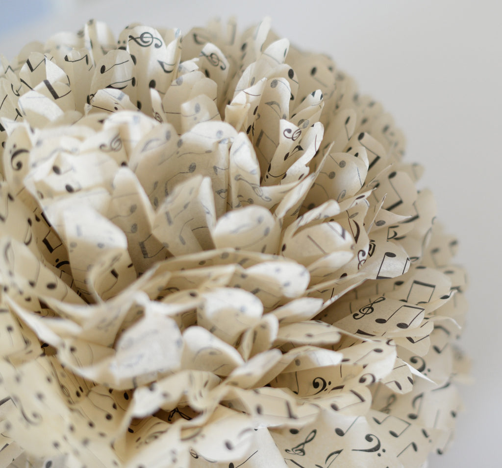 Pom - Printed Note / Music Sheet  Paper Pompom