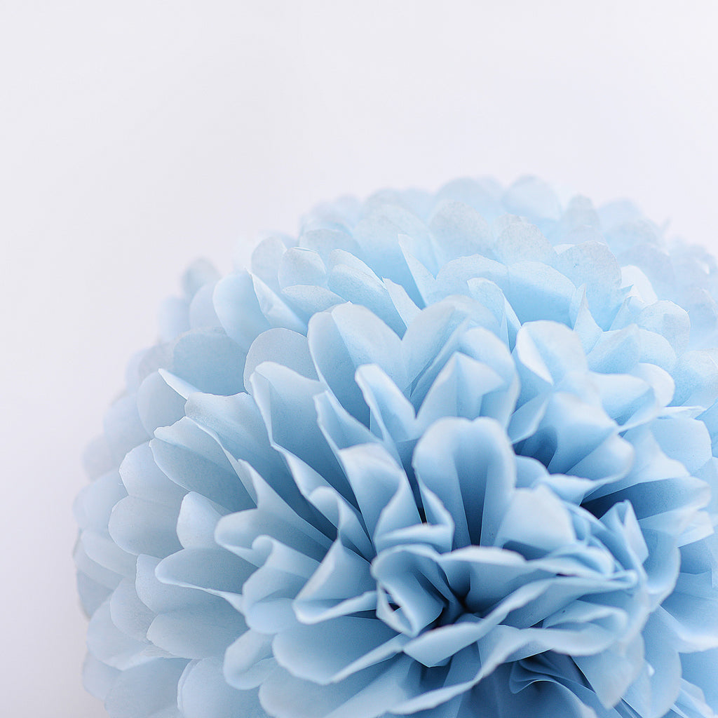 Powder blue tissue paper pom pom