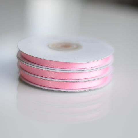 Baby Pink double sided satin ribbon roll - 25m - Decopompoms - party decoration boutique