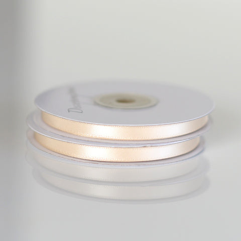 Ribbon - Beige Double Sided Satin Ribbon Roll - 25m