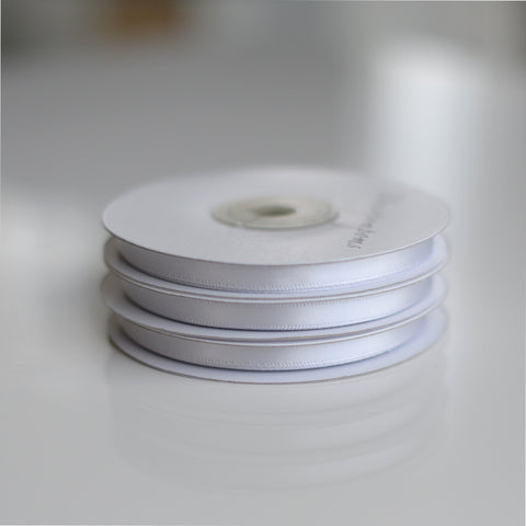 Light Grey double sided satin ribbon roll - 25m - Decopompoms - party decoration boutique