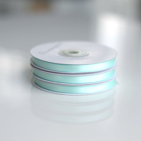 Mint double sided satin ribbon roll - 25m - Decopompoms - party decoration boutique