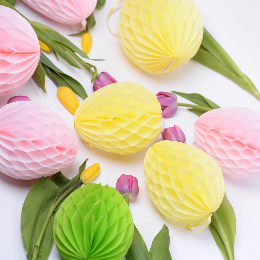 Paper honeycomb Easter egg decoration - custom color
