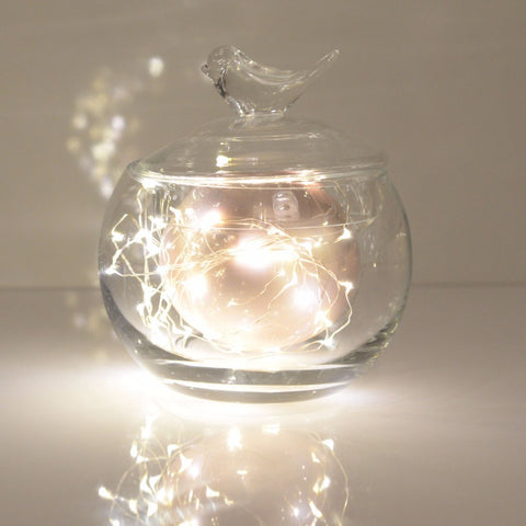 Copper wire fairy string lights - micro drop led 2m - 40 leds - Decopompoms - party decoration boutique