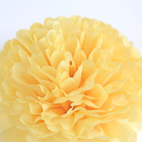Sunshine yellow tissue paper pom pom