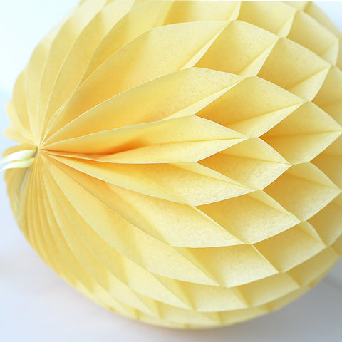 Sunshine yellow paper honeycomb - hanging party decorations