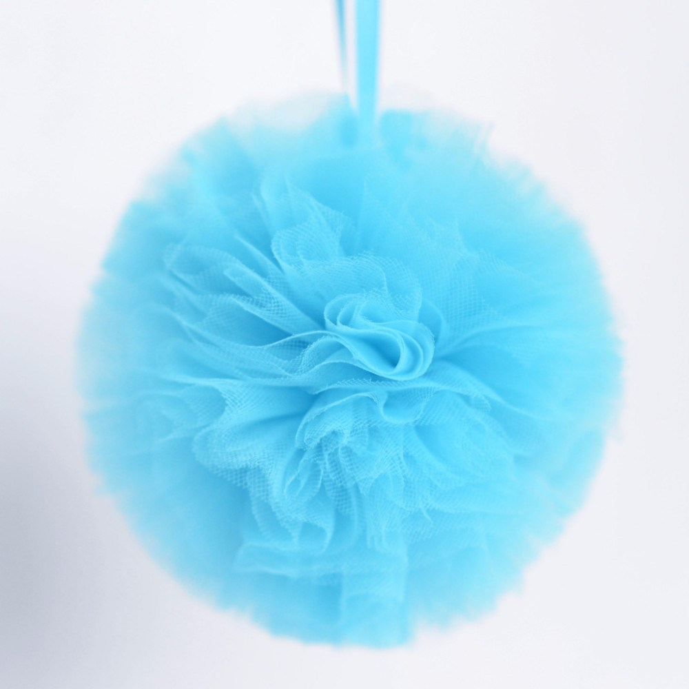 Baby blue tulle pom pom - Decopompoms - party decoration boutique