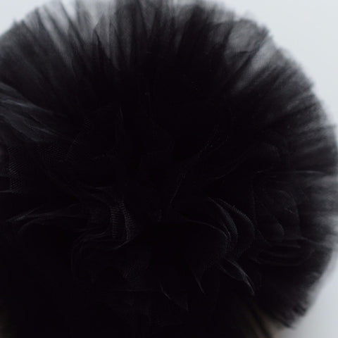 Black tulle pom pom - Decopompoms - party decoration boutique
