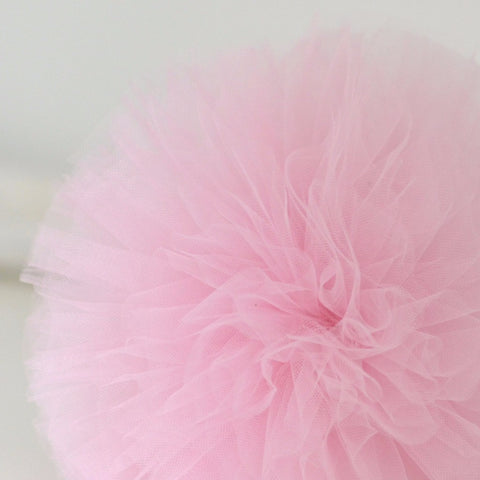 Light pink tulle pom pom - Decopompoms - party decoration boutique