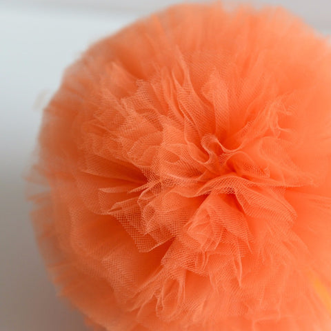 Tulle - Orange Tulle Pom Pom