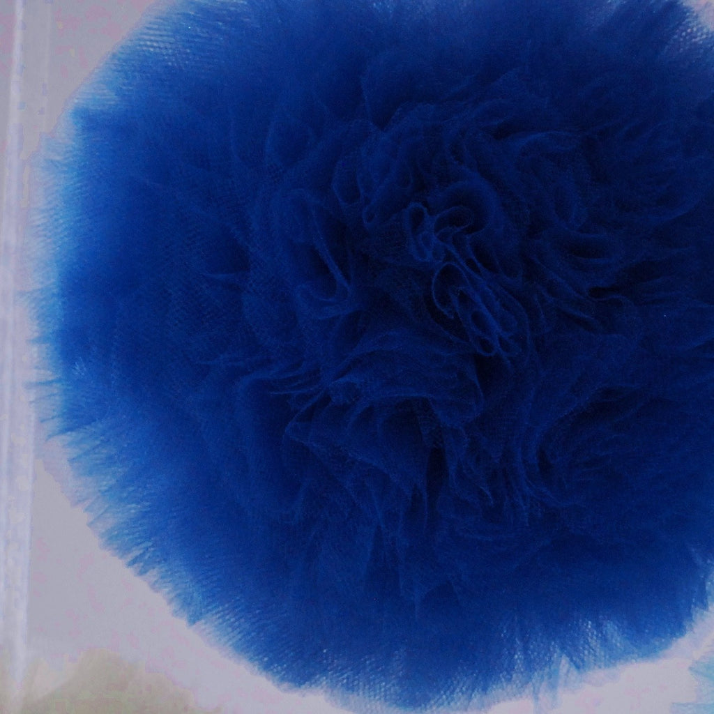 Tulle - Parade Blue Tulle Pom Pom
