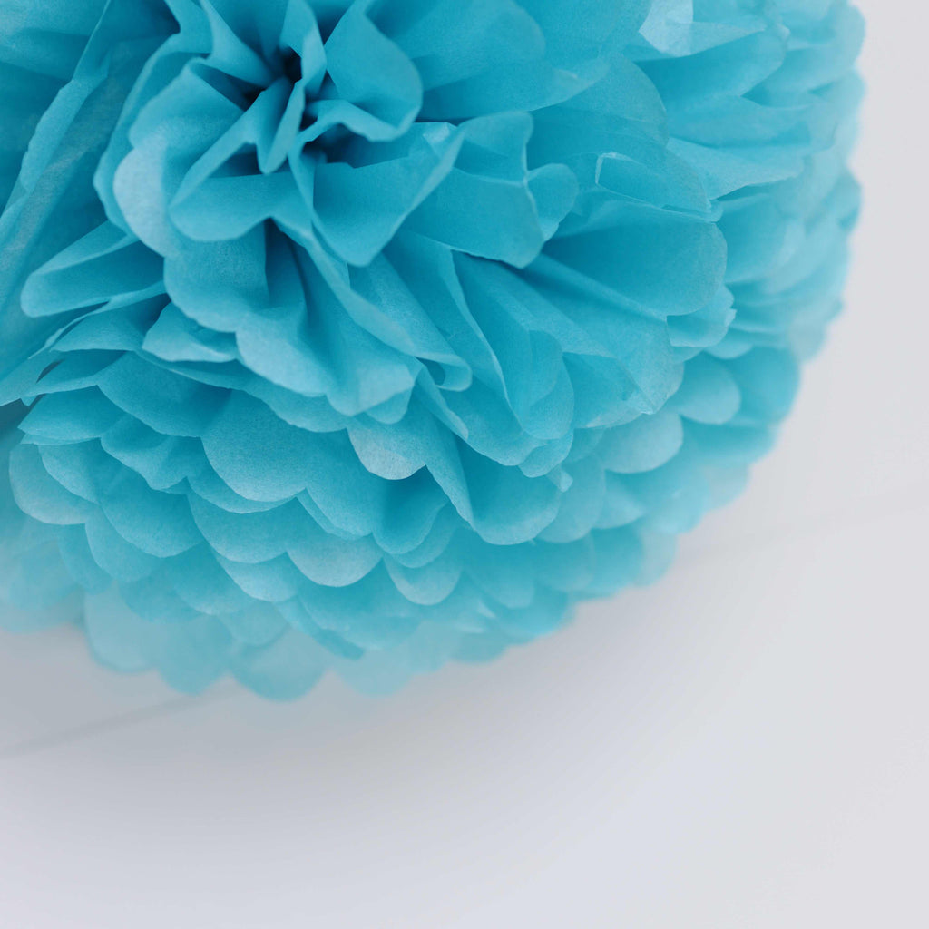 Large size turquoise tissue paper pom pom