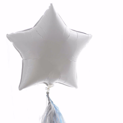 White Star Foil Balloon 20