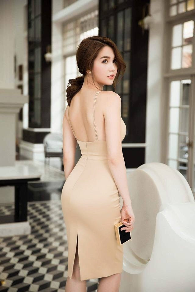 Golden Satin Open Back