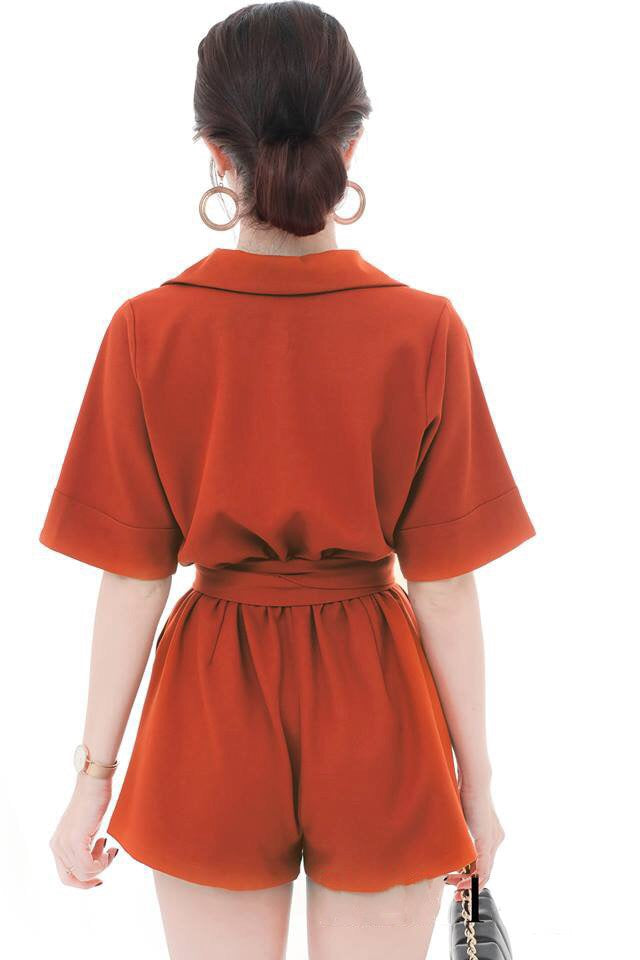 Orange Mini Jumpsuit