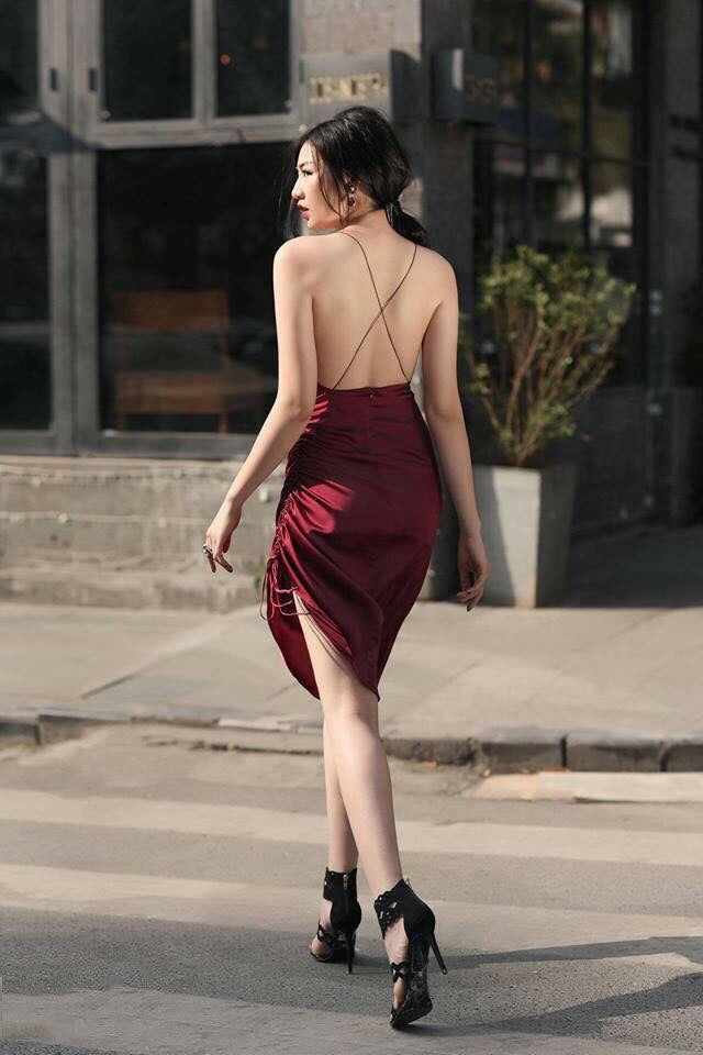 Satin Open Back