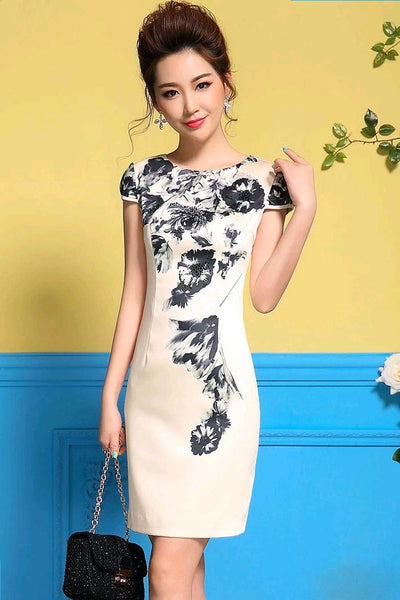 Dress - Black Flowers Dress