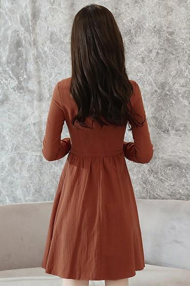 Dress - Brown Pouf