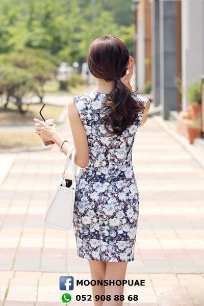 Dress - Dark Flowers Sleeveless