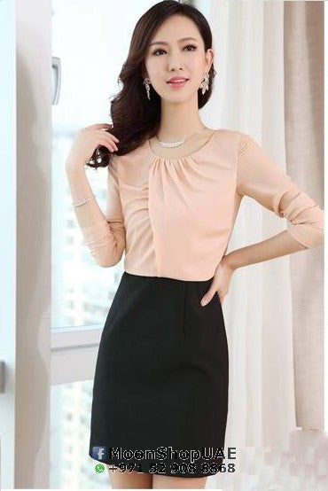 Dress - Front Crossed Black/Pale