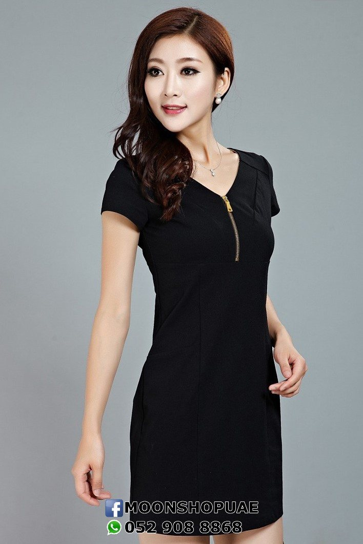 DRESS - Front Zipper Dress