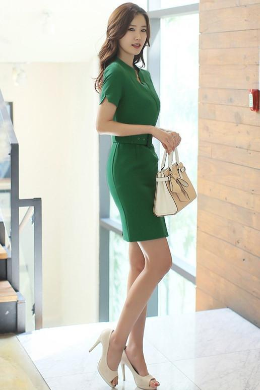 Green Belt Dress