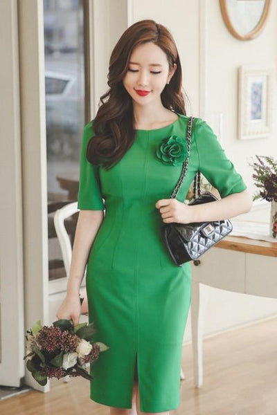 Dress - Green Flower