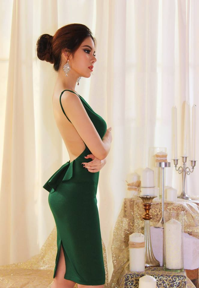 DRESS - Green Open Back