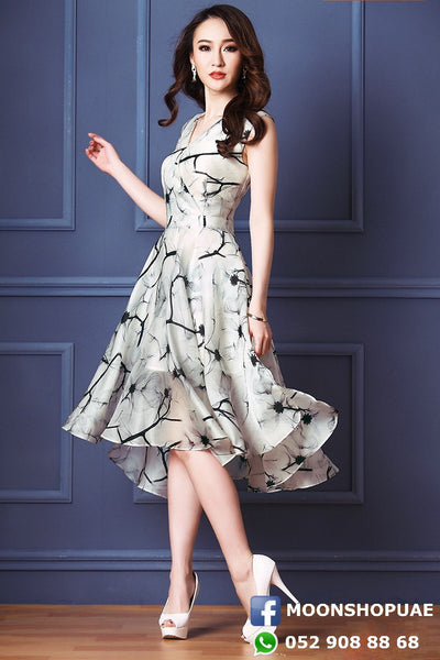 Dress - Knee Chiffon Dress