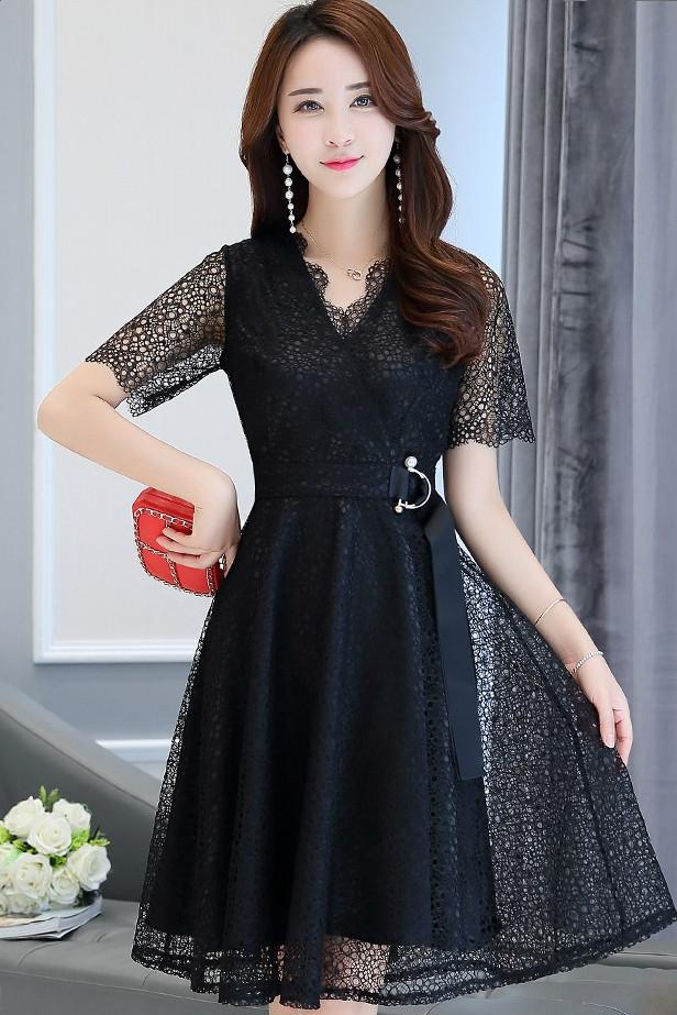 Lace Pouf Dress