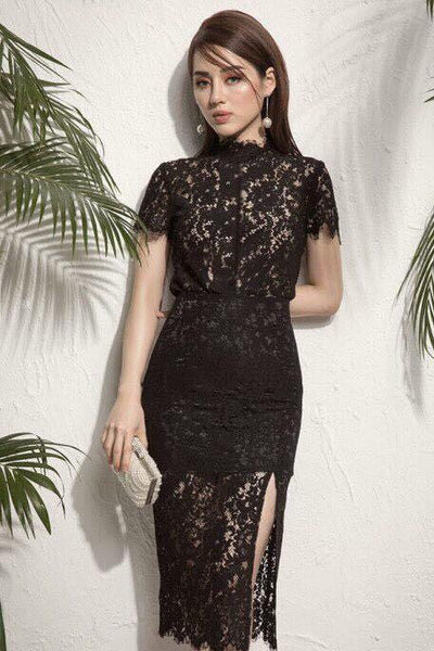 DRESS - Lace Skirt And Top Set