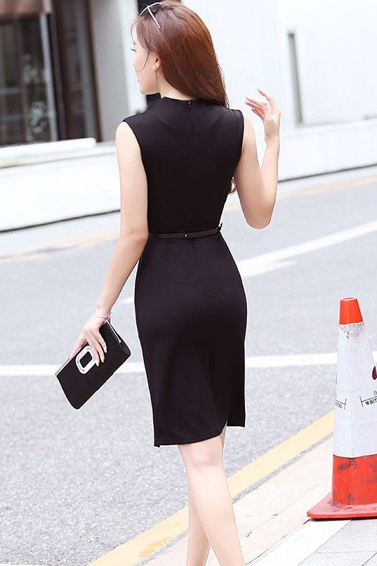 Dress - Office Slit Dress