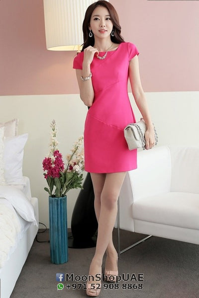 Dress - Pink Short Sleeve